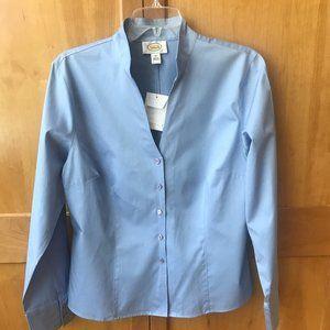NWT Talbots Classic Blue Blouse Plus Size 14